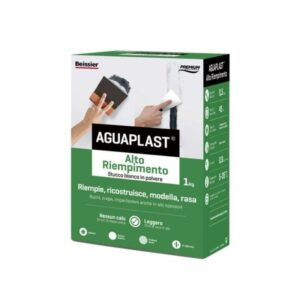 Aguaplast alto riempimento stucco bianco in polvere 1 kg - stucco in polvere