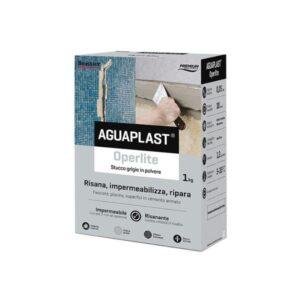 """Stucco grigio in polvere impermeabile - Aguaplast """"Operlite"""""""
