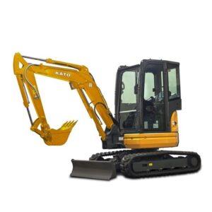 Miniescavatore ideale per eseguire operazioni di scavo e di carico in luoghi ristretti.
