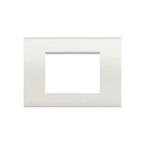Placca quadrata 3 moduli bianca