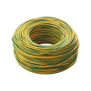 cordina antifiamma giallo verde - cavo elettrico unipolare