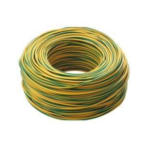 cavo elettrico unipolare: cordina antifiamma giallo verde