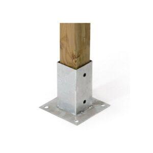 piastra di fissaggio - recinzioni in legno - giardinaggio - bigmat cossa