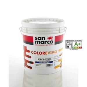 Colorevivo - idropittura - san marco - bigmat cossa - vernice lavabile - pittura inodore