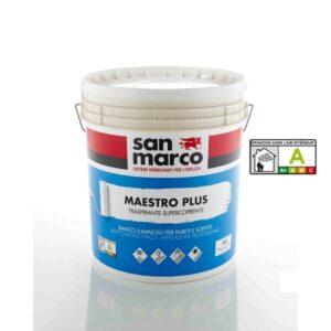 Maestro plus - traspirante supercoprente - idropittura - vernice lavabile - pittura inodore - pittura per interni - san marco - bigmat cossa